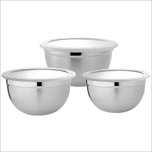 JSI 802 Stainless Steel German Plain Lid Bowl Set