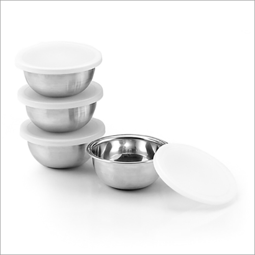 JSI 804 Steel Pinch Bowl With Lid