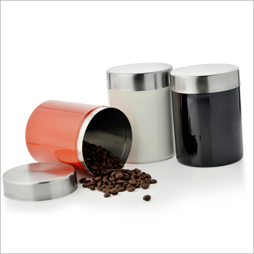 JSI 806 Stainless Steel Colored Sober Canister