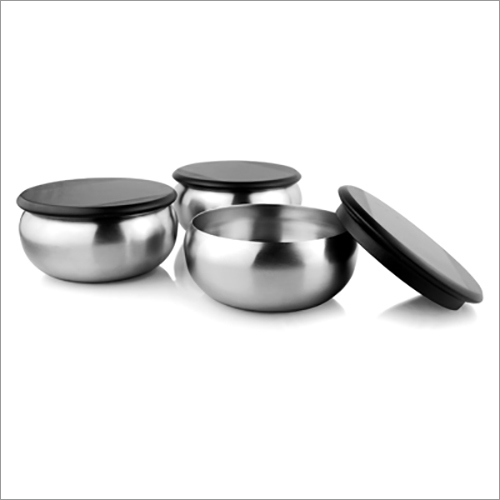 JSI 823 Steel Belly Bowl With Wooden Lid