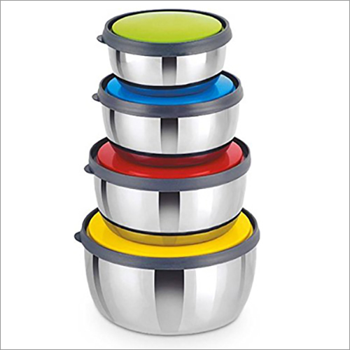 JSI 838 Stainless Steel Multi Color Lid Bowl Set