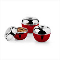 JSI 857 Stainless Steel Colored Apple Storage Canister