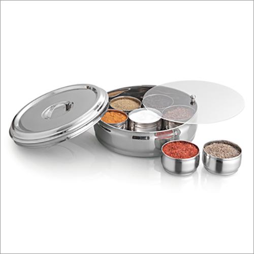 JSI 866 Stainless Steel Belly Masala Dabba Spice Box