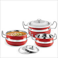 JSI 867 Stainless Steel Store And Serve Handi Set Plain And Colored
