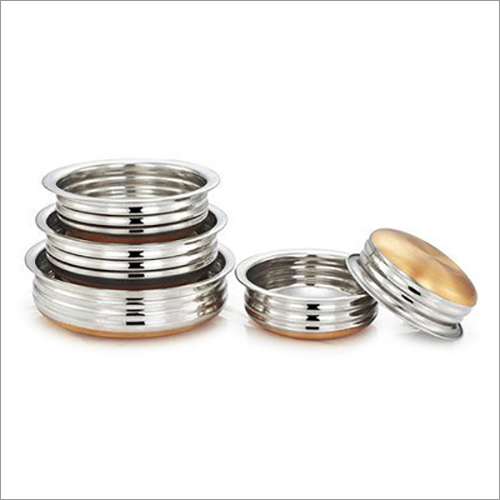 JSI-1837 Stainless Steel Urli With Copper Bottom