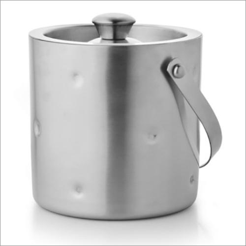 JSI 609 Steel Double Wall Ice Bucket Dimple