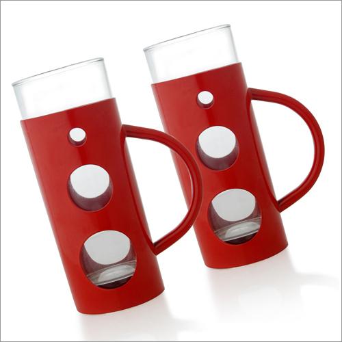 JSI 627 Steel And Glass Beer Mug Colored