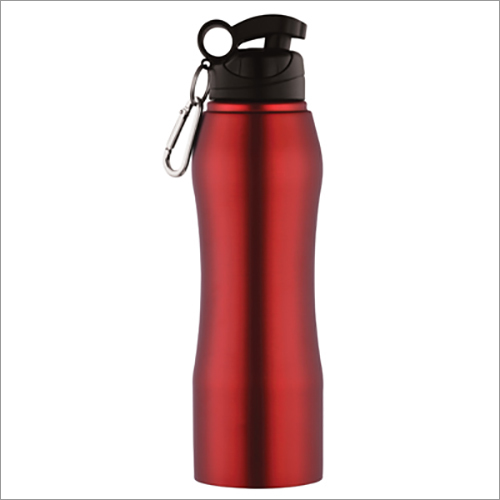 JSI-2108 Steel Single Wall Fridge Sipper Water Bottle Belly Coloured With Clipper