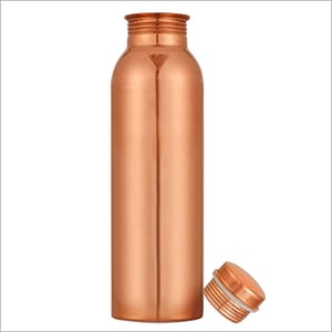 JSI-2124 Copper Single Wall Fridge Water Bottles Plain, Printed, Hammered And Laquer Finished