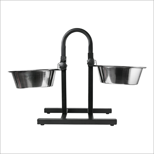 JSI318 Double Diner Pet Bowls With U Type Adjustable Stand