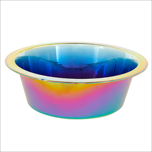 JSI329 Titanium Pvd Coated Pet And Dog Bowls - Rainbow, Gold, Rose Gold, Blue