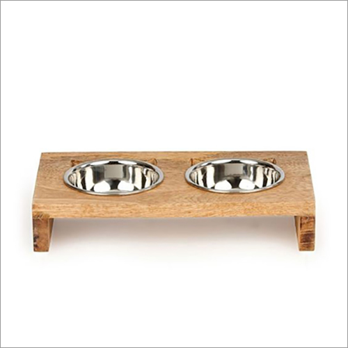JSI330 Double Diner Pet Bowls With Wooden Stand