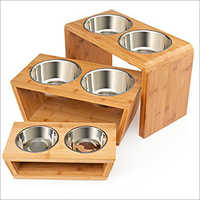 JSI331 Elevated Dog And Pet Feeders With Wooden Stand