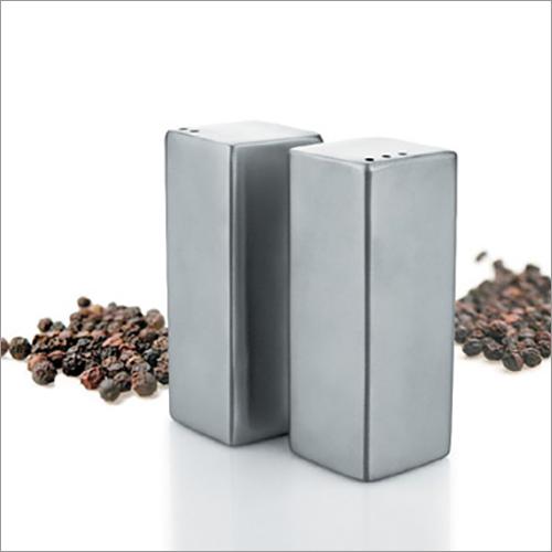 Steel Salt And Pepper Shaker Set Square