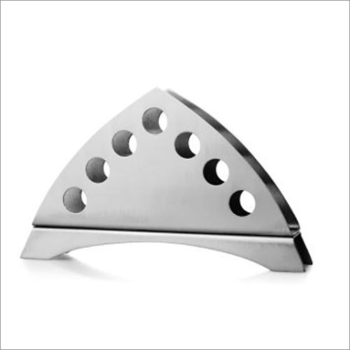 Steel Samosa Napkin Stand Round Punch