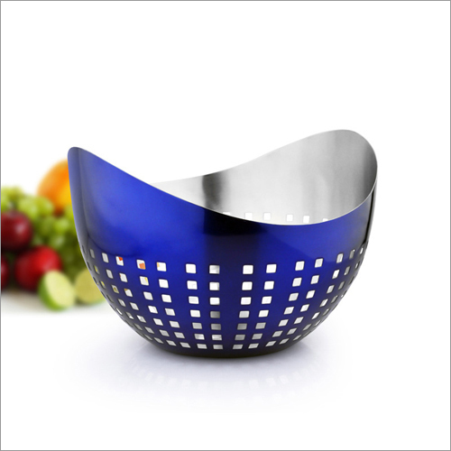 JSI 2209 Blue PVD Coated Fruit Bowls And Bread Baskets