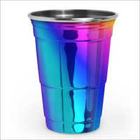 JSI 2215 Rainbow And Blue PVD Coated Tumblers And Cups