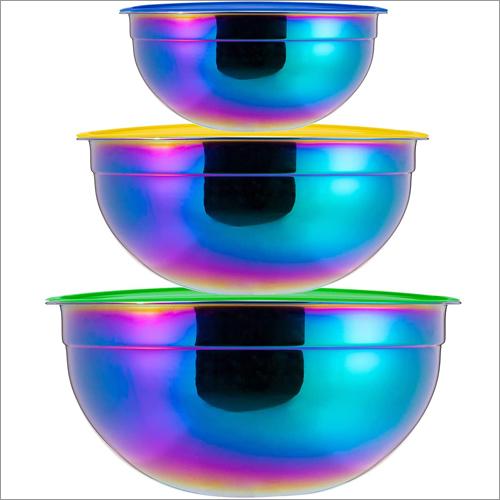 JSI 2222 Iridescent PVD Coated Steel Storage Bowl Set