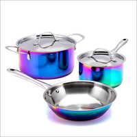 JSI 2224 PVD Iridescent Rainbow High Carbon Steel Cookware Sets