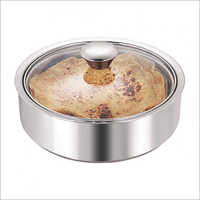 JSI 2010 Steel Double Wall Insulated Roti Server Pot With Glass Lid