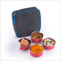 JSI 2012 Stainless Steel Microwave Safe Containers With Insulated Lunch Bag