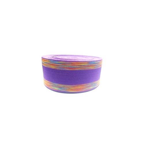 75 mm  Shoe Elastic SS-1363 BRIGHT LEVENDER WITH MULTI