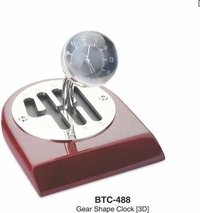 3d Gear Shape Clock