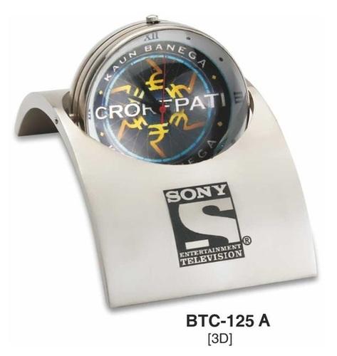 Silver Bridge Shape Desktop Clock