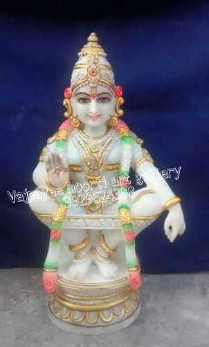 White Marble Murugan Statue