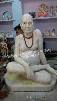 White Swami Samarth Statue