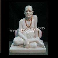 White Marble Swami Samarth Statue