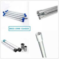 Galvanized Steel 40 MM GI Electrical Conduit Pipe, Type: Heavy (HMS) ISI-9537  Part -2