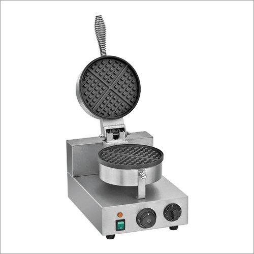 Single Round Plate Waffle Making Machine