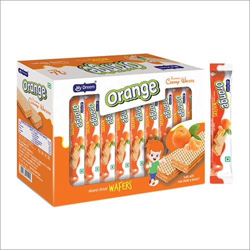 Orange Delicious Creamy Wafers
