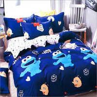 Microfiber Kids Printed Double Bedsheet