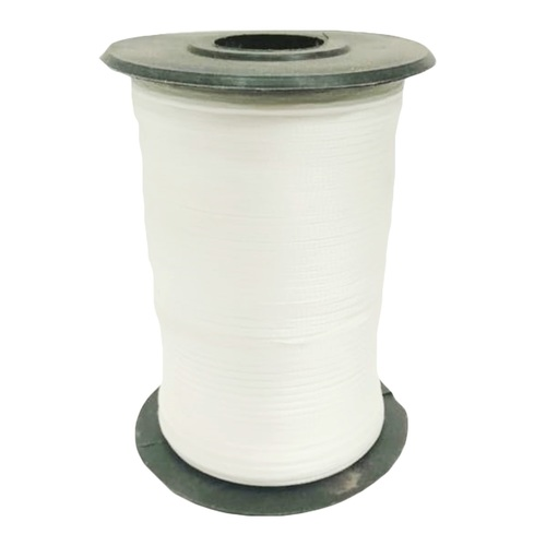 Braided Tapes SS-F001 WHITE 2 MM FLAT TAPE