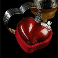 Pavoni Micro Perforated SS Cake Ring HEART 75 x 70 x 20 mm XF14