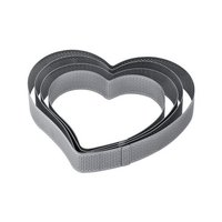Pavoni Micro Perforated SS Cake Ring HEART 160 x 150 x 35 mm XF26