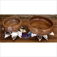 Metal Leaf  Base Bowl
