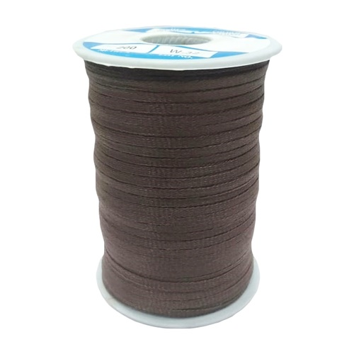 Braided Tapes SS-F24 HT BROWN 3 MM FLAT TAPE