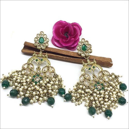 Ladies Mayur Polki Earrings
