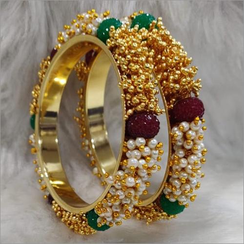 Ladies Traditional Pearl Bangles