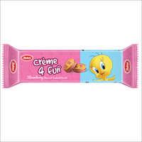Strawberry 4 Fun Cream Biscuits
