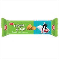 Pineapple Cream 4 Fun Cream Biscuits