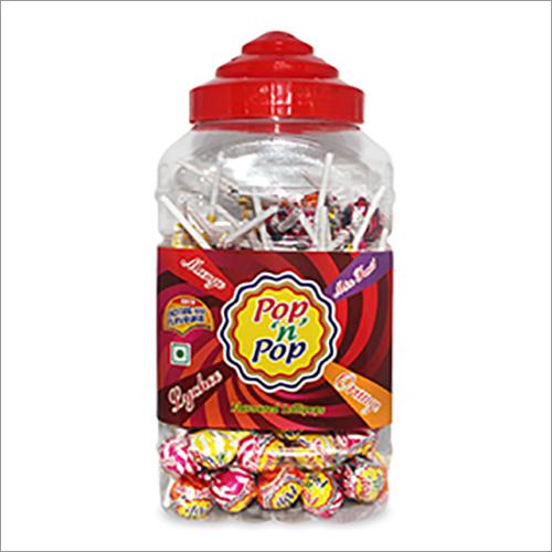 Pop N Pop Assorted Flavoured Lollipop Jar