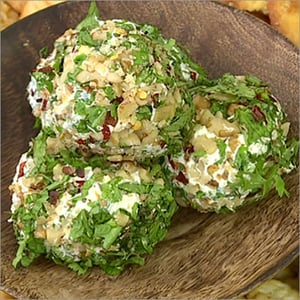 Biscuits With Herby Cheese And Walnut Ball