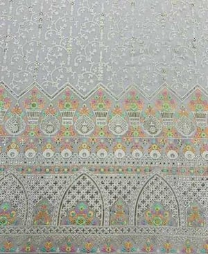 Embroidery Viscose Georgette Fabric