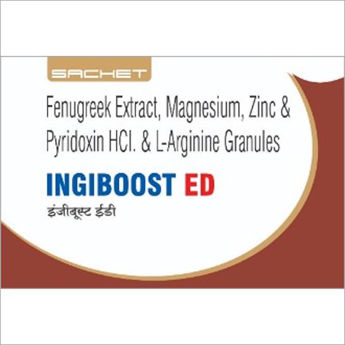 Fenugreek Extract Magnesium Zinc and Pyridoxin HCI and L Arginine Granules Sachet