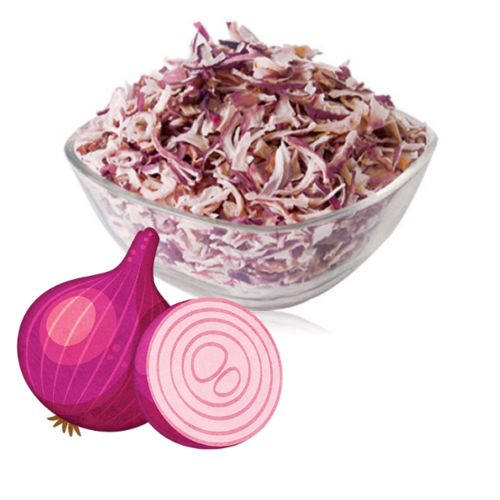 Dehydrated Pink Onion Flakes / Kibbled