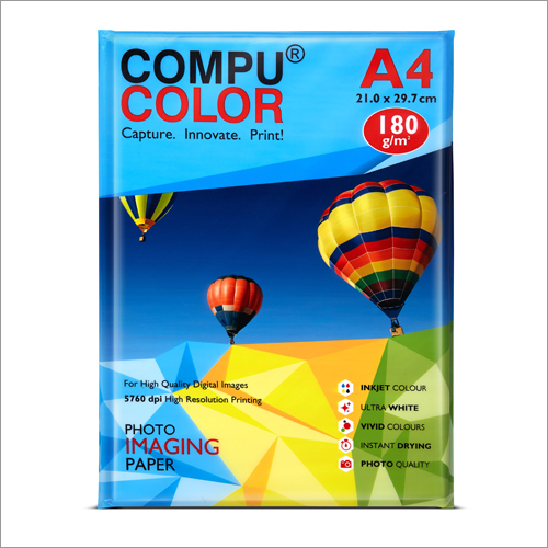 Cast Coated Primo Glossy 180 A4 Photo Imaging Paper